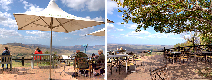 Patio Restaurant View Point Hilltop Camp Accommodation Booking Hluhluwe iMfolozi uMfolozi Game Reserve Game Park KwaZulu-Natal South Africa