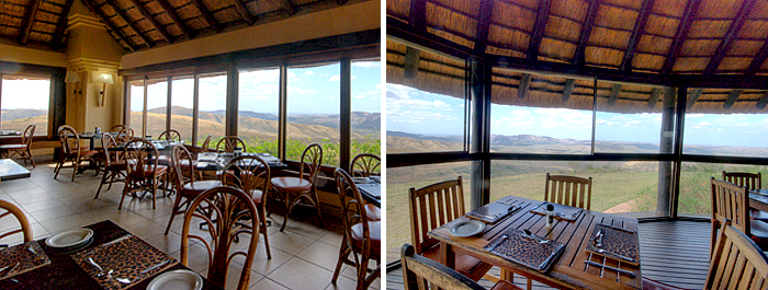 La Carte Restaurant View Hilltop Camp Accommodation Booking Hluhluwe iMfolozi uMfolozi Game Reserve Game Park KwaZulu-Natal South Africa