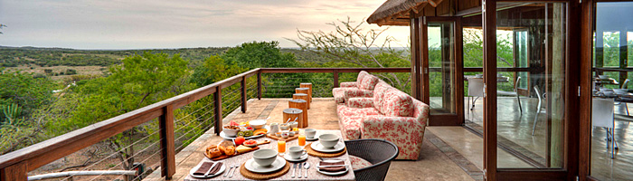 Phinda Mountain Lodge Main Deck Breakfast Phinda Private Game Reserve Big 5 Luxury Lodge African Safari South Africa
