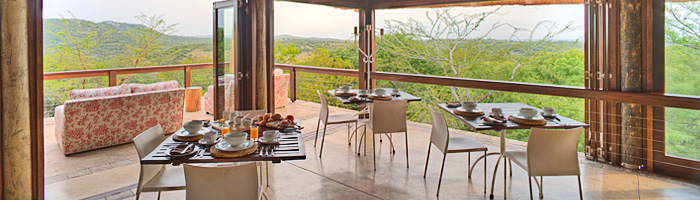 Phinda Mountain Lodge Dining Area Main Deck Phinda Private Game Reserve Big 5 Luxury Lodge African Safari South Africa
