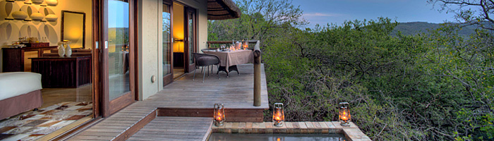 Phinda Mountain Lodge Private Suite Deck Plunge pool Phinda Private Game Reserve Big 5 Luxury Lodge African Safari South Africa