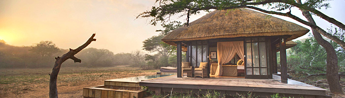 Phinda Vlei Lodge Luxury Thatched Suite Sunset Phinda Private Game Reserve