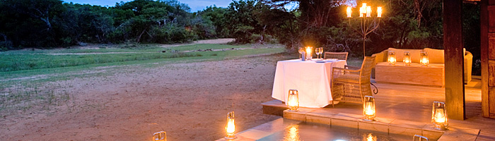 Phinda Vlei Lodge Private Dinner Luxury Suite Plunge Pool Phinda Private Game Reserve