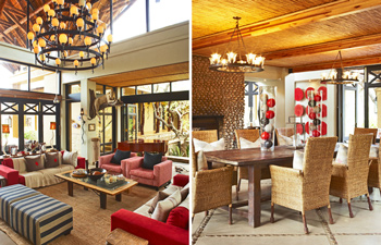 Lounge Dining area Thanda Private Villa iZulu Exclusive-Use Thanda Private Game Reserve Accommodation Bookings