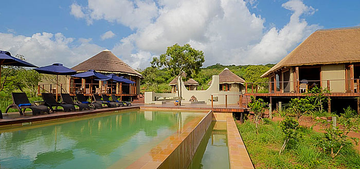 Thanda Tented Safari Camp Main Lodge Swimmimg pool Thanda Private Game Reserve