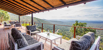 Deck view Leopard Mountain Lodge Manyoni Private Game Reserve Zululand Rhino Reserve KwaZulu-Natal Accommodation Bookings Hluhluwe iMfolozi Reservations
